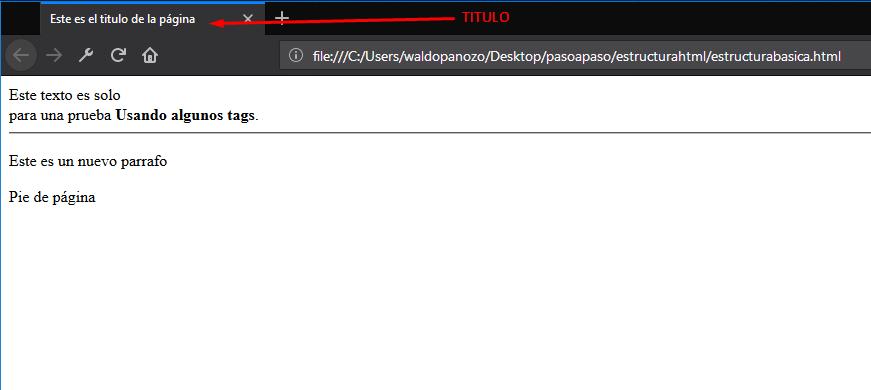 ESTRUCTURA BASICA HTML 5